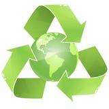 Recycleer Aarde Stock Afbeelding