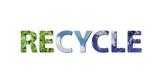 Recycleer aarde, water, lucht vector illustratie