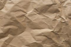 Recycleer abstract bruin verfrommeld document voor achtergrondtexturen Stock Foto's