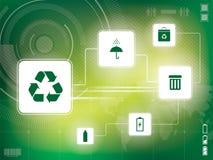 Recycleer achtergrond Royalty-vrije Stock Foto's
