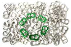Recycleer aluminiumconcept Stock Fotografie