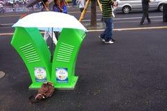 Recycleer bak in Expo2010 Shanghai China Royalty-vrije Stock Foto's
