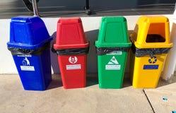Recycleer bak Verminder het globale verwarmen Verminder milieuproblemen royalty-vrije stock afbeelding