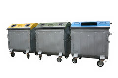 Recycleer bakcontainers Stock Foto