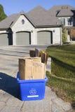 Recycleer bakcurbside Royalty-vrije Stock Afbeelding