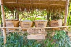 Recycleer bakken Stock Foto's
