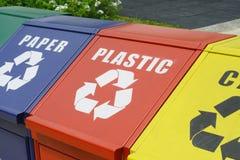 Recycleer bakken stock foto