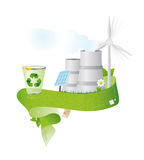 Recycleer banner Stock Fotografie