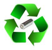 Recycleer batterij Stock Foto