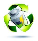 Recycleer batterijen Stock Afbeelding