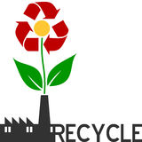 Recycleer Bloem stock illustratie