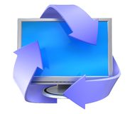 Recycleer computer Stock Foto