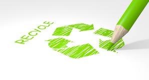 Recycleer concept Stock Afbeelding