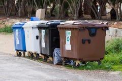 Recycleer de containers van de Bak royalty-vrije stock foto