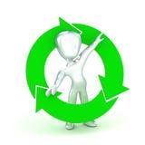 Recycleer de Mens Stock Afbeelding