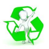 Recycleer de Mens Stock Afbeeldingen