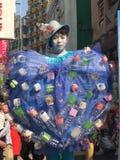 Recycleer de mens Stock Foto