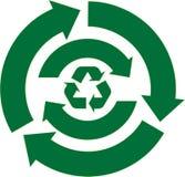 Recycleer de Reeks van de Pijl Stock Fotografie