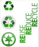Recycleer de VectorIllustratie van het Symbool Stock Foto