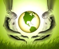Recycleer de wereld Stock Afbeeldingen