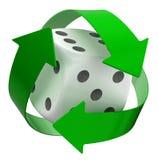 Recycleer dobbelen Stock Foto