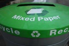 Recycleer Document Royalty-vrije Stock Foto's