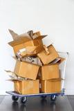 Recycleer document op kar royalty-vrije stock foto