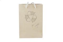 Recycleer document zak Stock Afbeelding