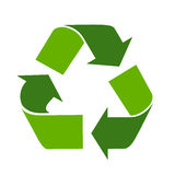 Recycleer eco vectorsymbool Royalty-vrije Stock Afbeelding