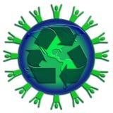 Recycleer een groene wereld Stock Afbeeldingen