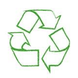 Recycleer embleem royalty-vrije illustratie