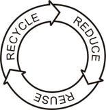 Recycleer embleem Stock Foto