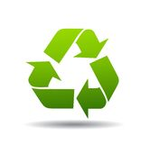 Recycleer Embleem Stock Afbeelding