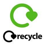 Recycleer embleem Stock Fotografie