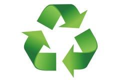 Recycleer Embleem royalty-vrije stock afbeeldingen