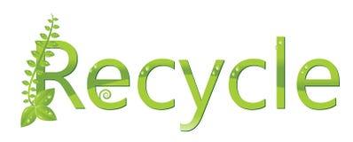 Recycleer embleem (bescherm het milieu) Royalty-vrije Stock Foto's