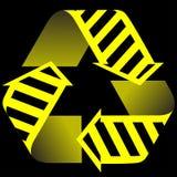 Recycleer en bouwpictogram Stock Foto's