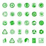 Recycleer en milieusymbolen Stock Illustratie