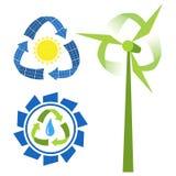 Recycleer energiebronnen Royalty-vrije Stock Foto's