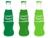 Recycleer glas Royalty-vrije Stock Afbeeldingen