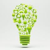 Recycleer Gloeilamp Stock Afbeeldingen
