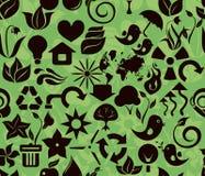 Recycleer groen patroon in vector Stock Foto's