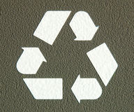 Recycleer het Symbool van het Pictogram Royalty-vrije Stock Afbeelding