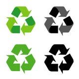 Recycleer het symbool van het tekenpictogram op witte achtergrond Stock Afbeelding