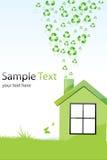 Recycleer huis Royalty-vrije Stock Afbeelding