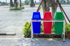 Recycleer huisvuilbak Stock Afbeeldingen
