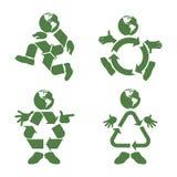 Recycleer Karakter Royalty-vrije Stock Afbeeldingen