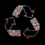 Recycleer kleuren Stock Afbeelding
