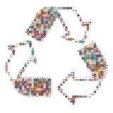 Recycleer kleurenwit Stock Foto's
