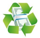 Recycleer monetair concept Stock Afbeeldingen
